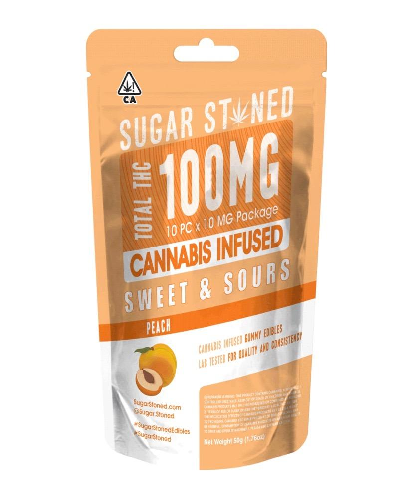 Sugar Stoned - Peach Rings 100mg