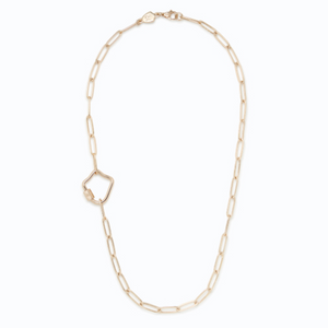 Gold Starlet Mirror Necklace - 20""