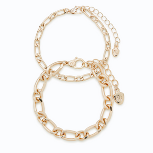 Gold Essential Chain Bracelet Set