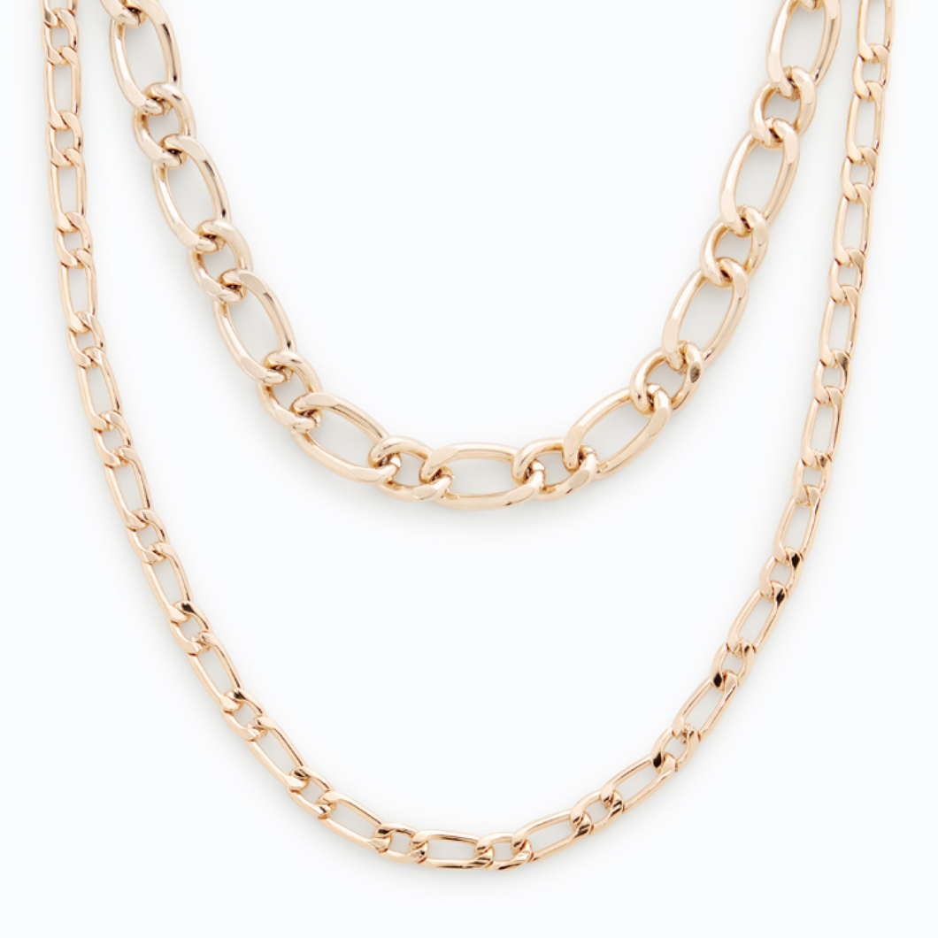 Gold Essential Chain Necklace Set