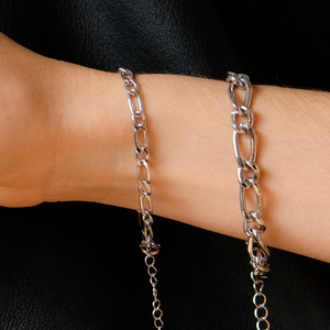 Silver Essential Chain Bracelet Set