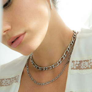 Silver Essential Chain Necklace Set