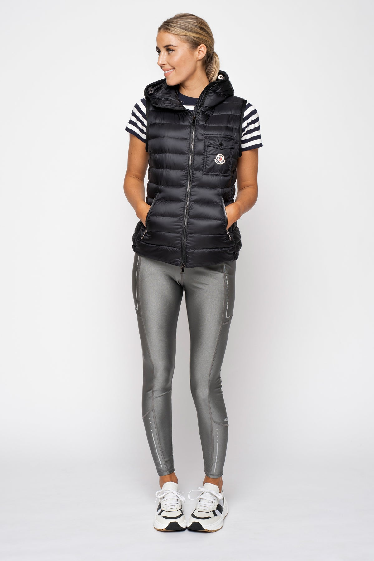 Moncler Silver Stretch Legging
