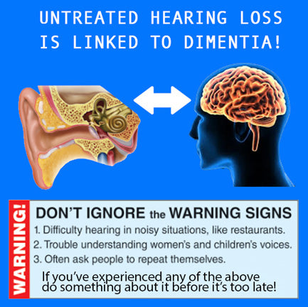 untreated hearing loss can cause dimentia and other common side effects hearing aids can help greatly