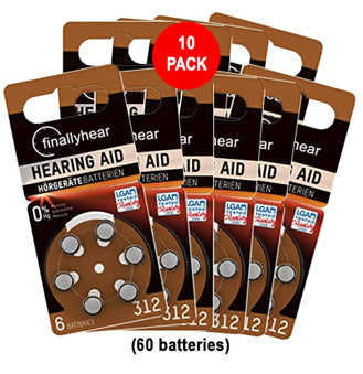 312 hearing aid batteries sale 10 pack