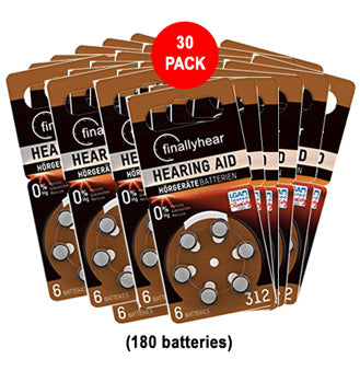 312 hearing aid batteries sale 30 pack