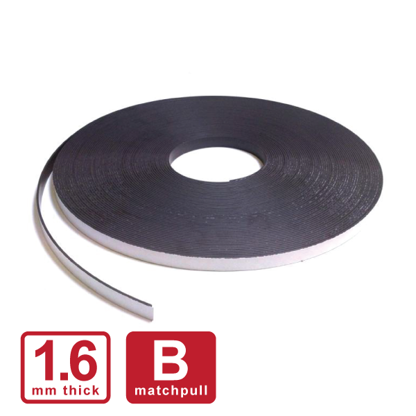 "12.5 x 1.6mm ""B"" Self Adhesive Stripping (Flexible Rubber)"