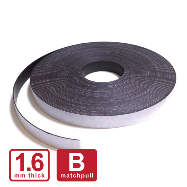 "25 x 1.6mm ""B"" Self Adhesive Stripping (Flexible Rubber)"