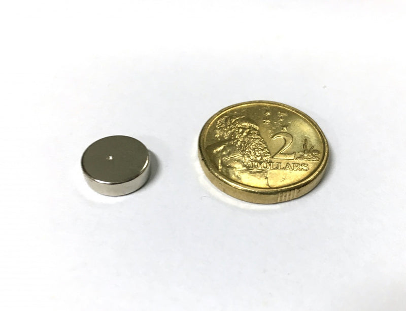 10mm x 3mm Disc North Pole Dent (Rare Earth)