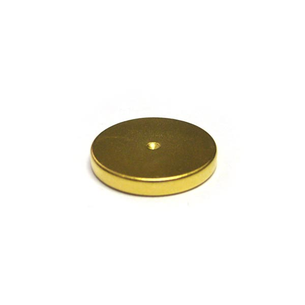 20mm x 3mm Disc (Rare Earth, Gold)
