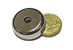 25 x 8mm Pot with 5.5mm Hole (Rare Earth)