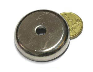 36 x 9mm Pot with 6.5mm Hole (Rare Earth)