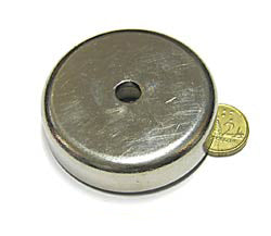 60 x 15mm Pot with 8.5mm Hole (Rare Earth)