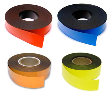 50 x 0.9mm Coloured Magnetic Stripping (Flexible Rubber)
