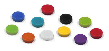 Coloured Magnetic Buttons (Ferrite)