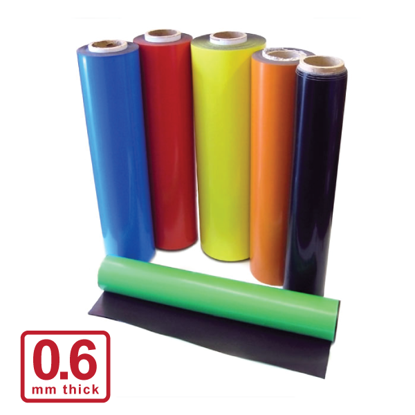 590 x 0.6mm Coloured Magnetic Roll  (Flexible Rubber)