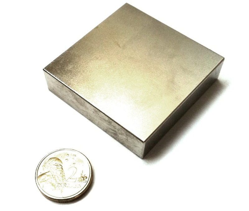 50.8mm x 50.8mm x 12.7mm Block  (Rare Earth)