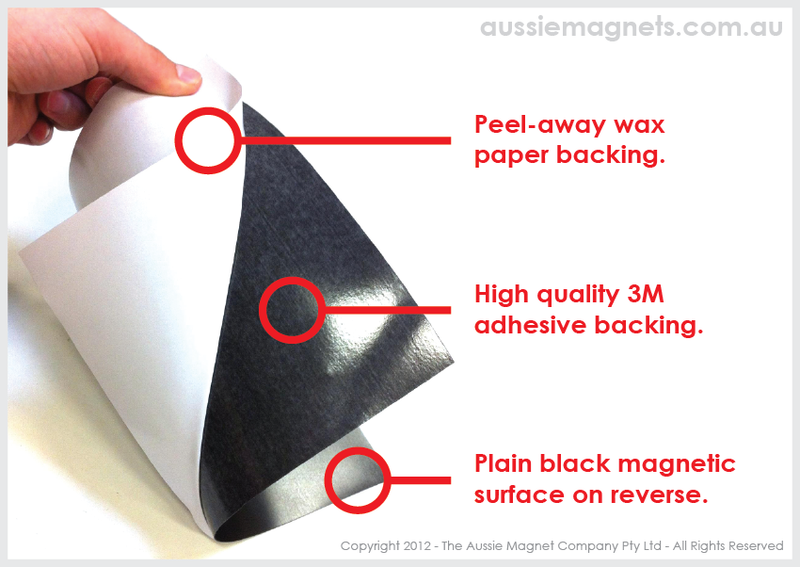 610 x 0.6mm Self Adhesive Magnetic Roll (Flexible Rubber)
