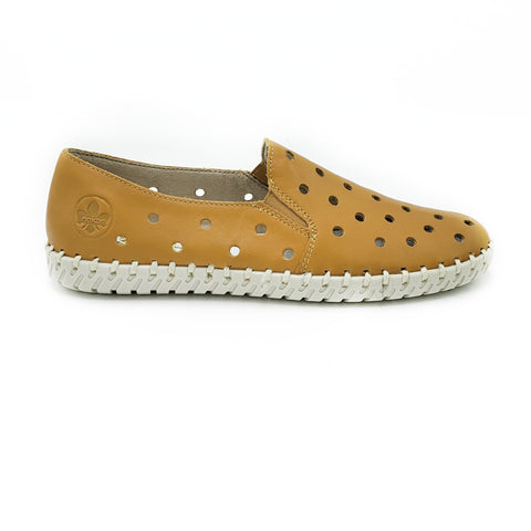 Rieker Female Walking Shoe  (Natascha-Yellow)