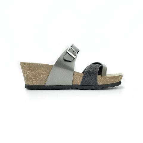 EASYWALK Wedge Sandal (Black)