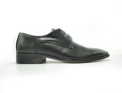 Shoe's from Italy (Men's Black Derby)