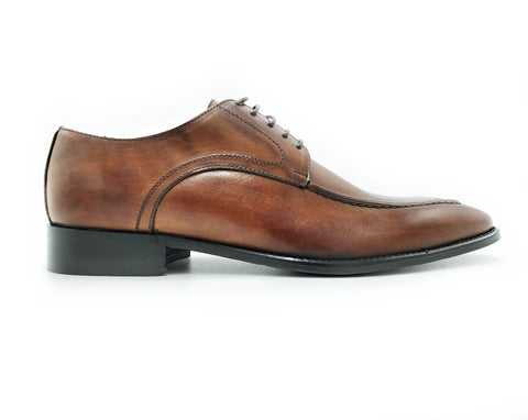 Di Franco Shoes Men's Derby (Brown) vero cuoio