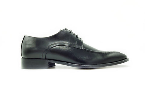 Di Franco Shoes Men's Derby (Black) vero cuoio