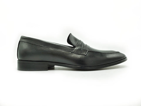 Di Franco Men's Loafer (Black) vero cuoio