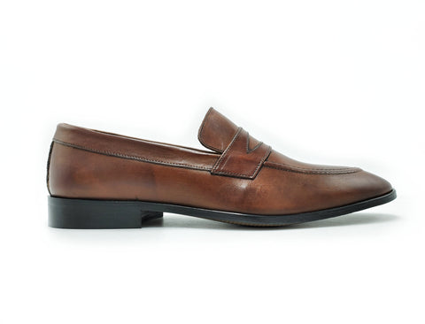 Di Franco Men's Loafer (Brown) vero cuoio