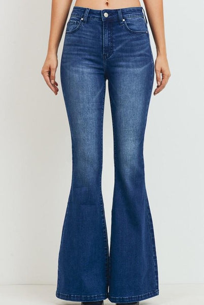 Simple High Rise Flare Jeans