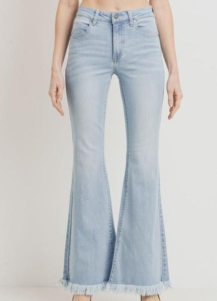 Flutter Mid High Rise Flare Jeans