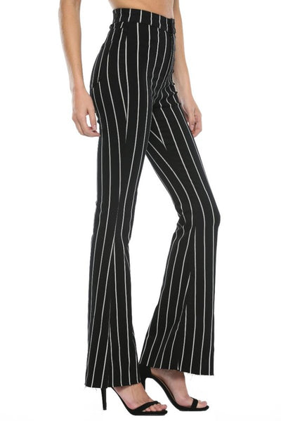 Black and White High Rise Super Flare Jeans