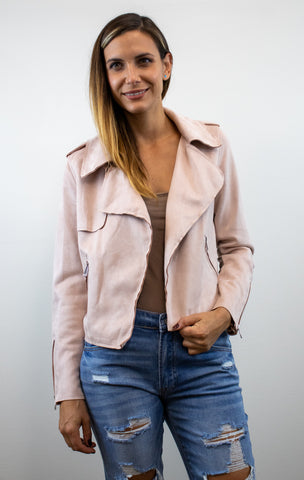 Pink Suede Go to Jacket