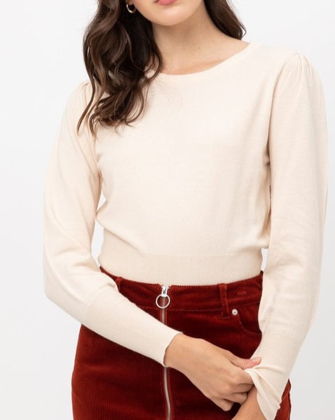 Basic Bell Sleeve Knit Top