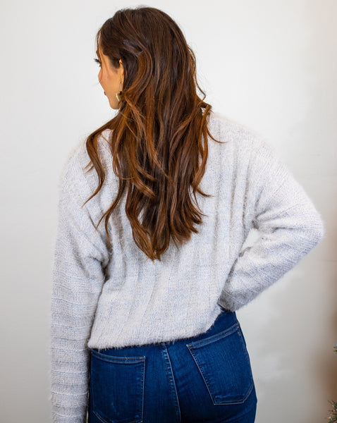Soft V-Neck Cropped Sweater