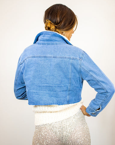 Sherpa Lined Denim Jacket