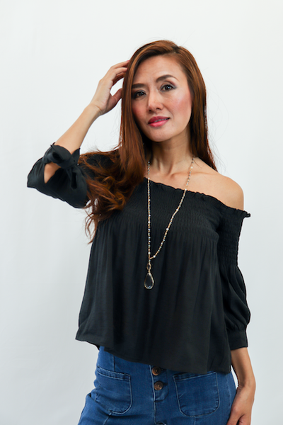Smoked off the Shoulder Blouse