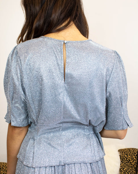 Shimmery Short Sleeve Blouse