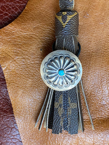 Blue Sunburst Hair Tie