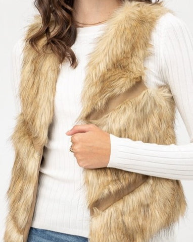 Faux Fur Open Vest