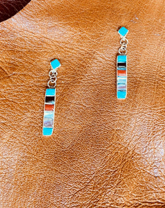 Multi Stone Cigarette Earrings