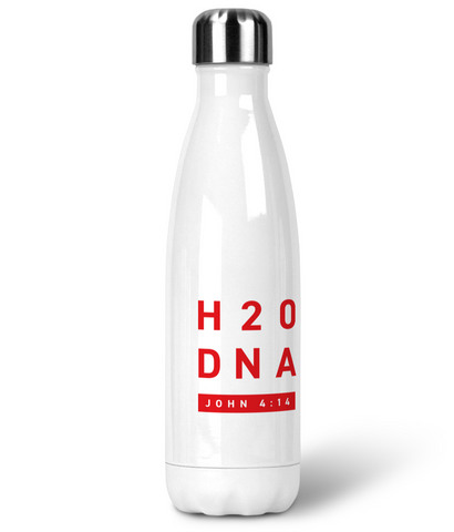 Premium Stainless Steel Water Bottle H2O DNA