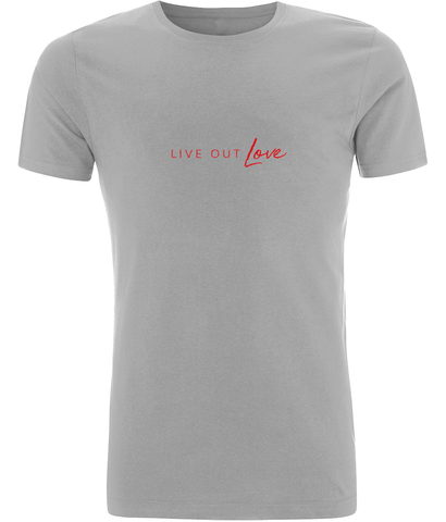 Slim Fit Jersey Men's T-shirt Live Out Love