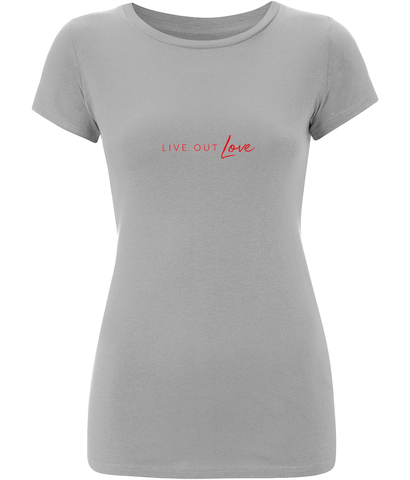 Women's Slim-Fit Jersey T-Shirt Live Out Love