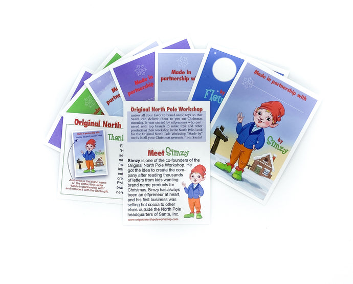 Elfpreneur cards. Introduce children to the elves who made their Christmas presents.