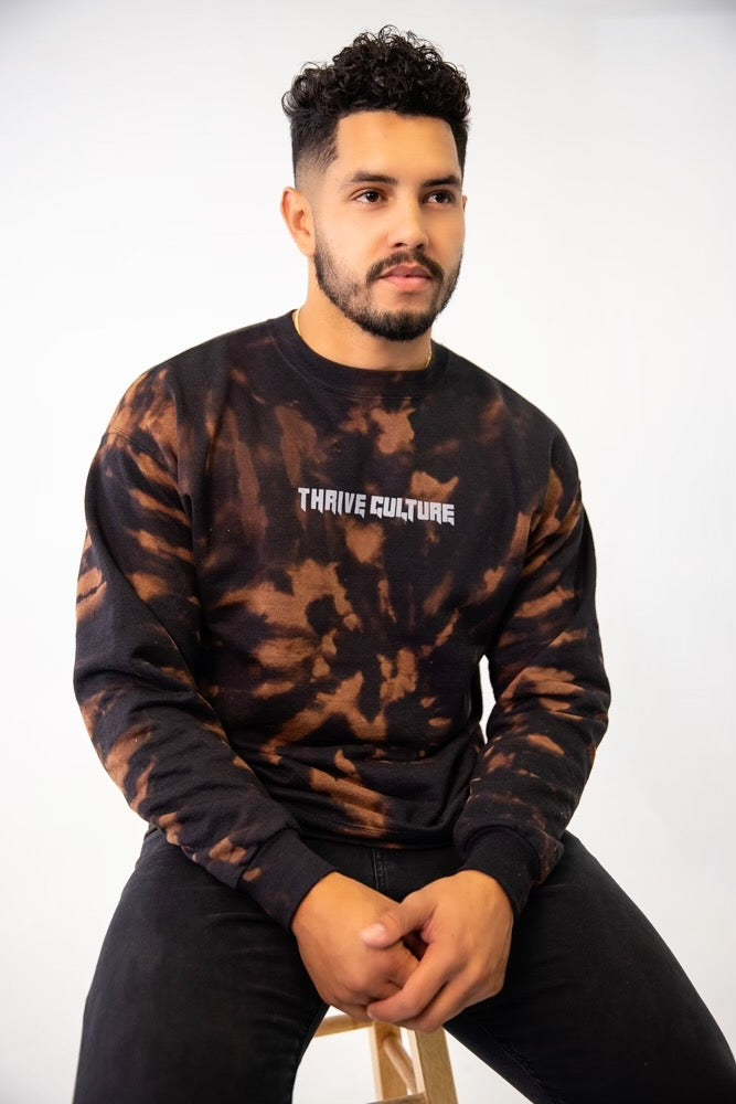 Thrive Culture Mineral Black Crewneck
