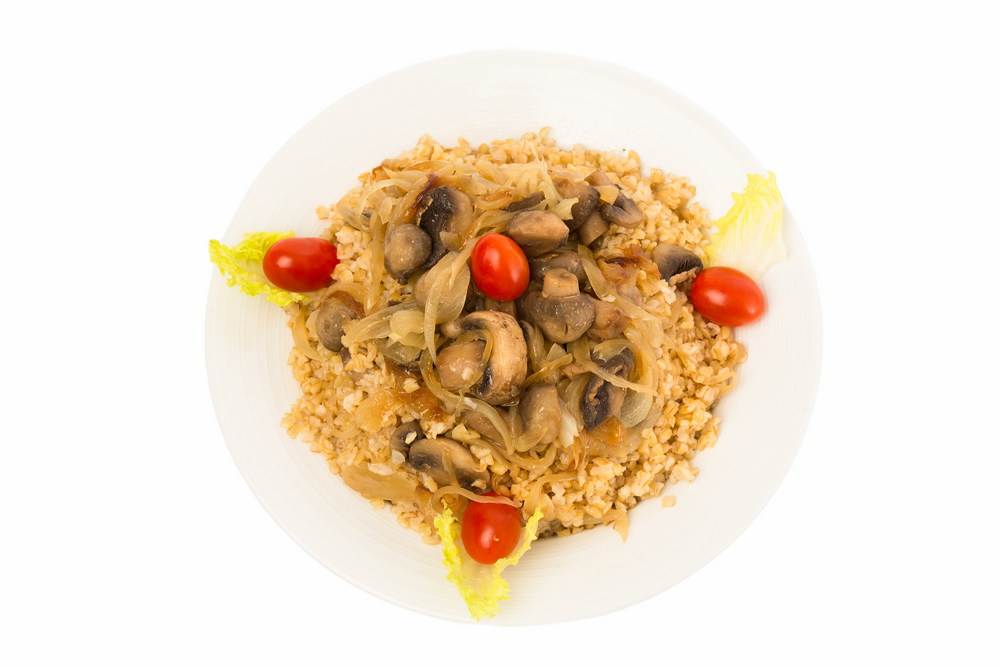 Bulgur with Mushrooms