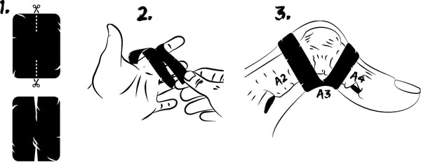 Steps for climbers to tape injured fingers -how to do the H Taping Method