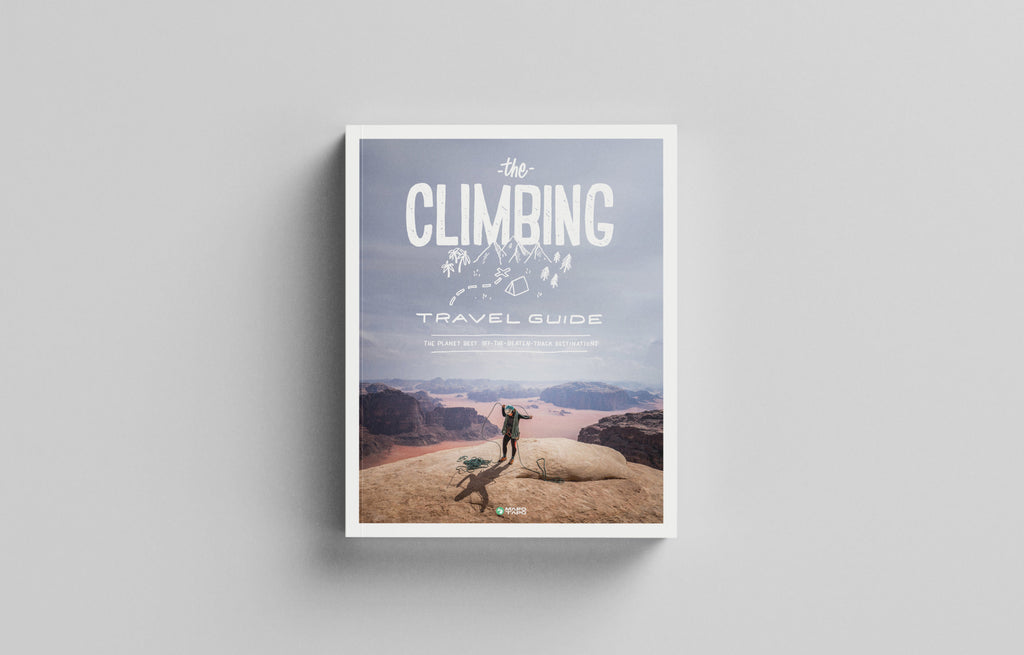 Front Cover of the Climbing Travel Guide Book - Low Gravity Climbing