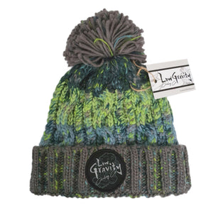 Open image in slideshow, Corkscrew PomPom Beanie